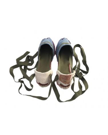 Espardeñas calzado con cordones para mujer mod. Frisco