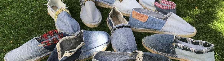 Alpargatas Le Fanghe hechas con pantalones vaquero LEVI'S  vintage remaked